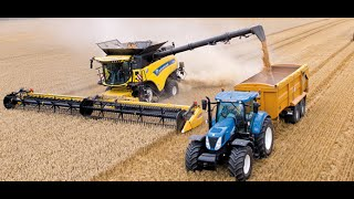 New Holland CR10.90 combine Guinness World Records attempt(New Holland Agriculture smashes the current GUINNESS WORLD RECORDS™ title for most wheat harvested within eight hours with the CR10.90 combine ..., 2014-10-15T11:13:15.000Z)