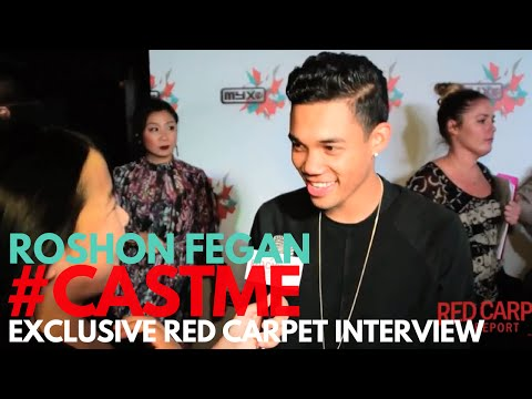 """Roshon Fegan interviewed at Myx TV's """"Cast Me!"""" Premiere Screening and Party #CastMe"""