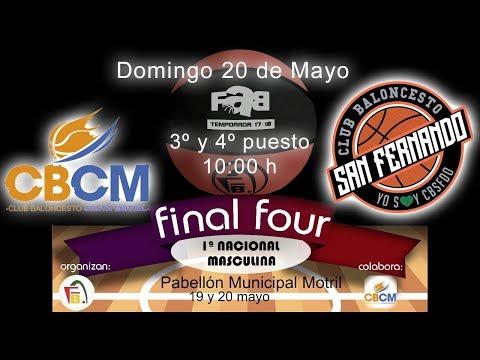 FINAL FOUR 1ª NAC MAS 2018 - CB Costa Motril - CB San Fernando
