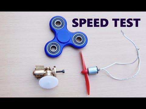 Fidget Spinner vs Steam Engine vs Magnet Motor Speed TEST!