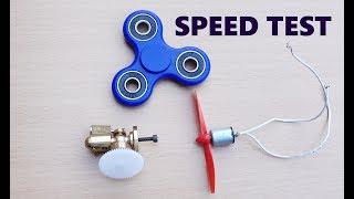 Fidget Spinner vs Steam Engine vs Magnet Motor Speed EXPERIMENT!