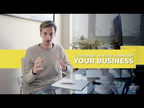 3 Different Ways To Jumpstart Your Business