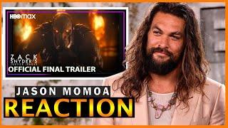 Jason Momoa REACTION Justice League Snyder Cut Final Trailer REDUB