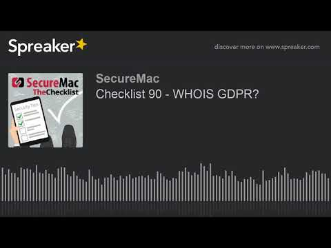 Checklist 90 - WHOIS GDPR?