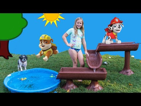 The Assistant Plays with Paw Patrol Water Table Surprise with PJ Masks Toys
