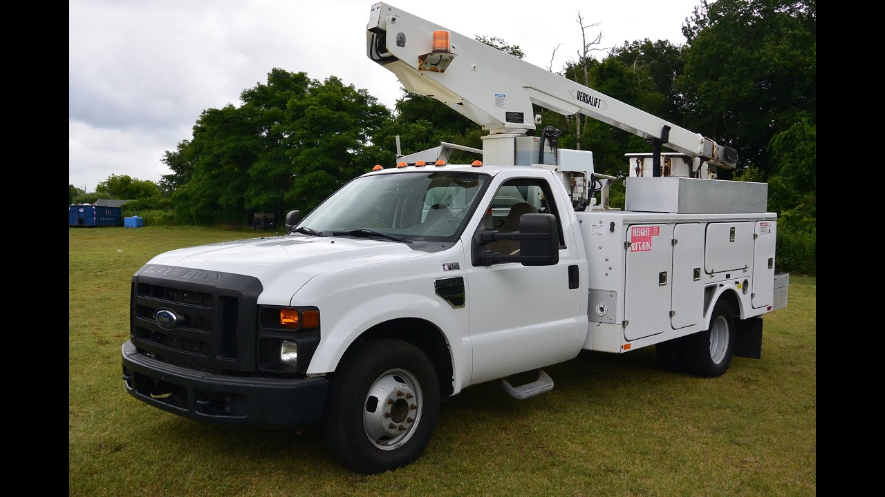 4c0d99db39 2008 Ford F350 Versalift Bucket Truck Boom Lift - YouTube