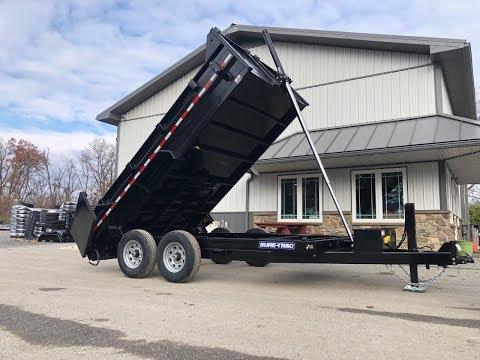 Sure Trac 7x14' Heavy Duty Low Profile Hydraulic Dump Trailer Lemonator Package14000# GVW