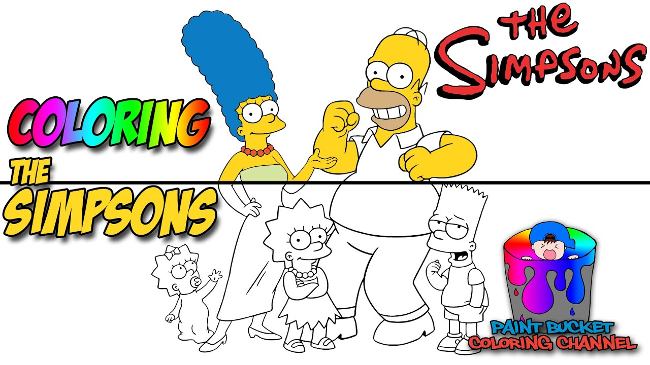 coloring the simpsons matt groening tv show cartoon coloring