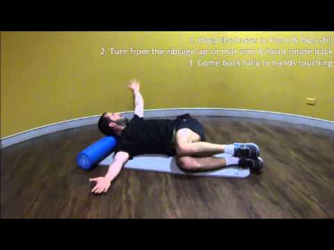 Foam Roller Thoracic Rotation Youtube