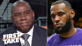 Magic Johnson joins First Take and answers for not informing LeBron James about his decision to resign as the president of basketball operations for the Los Angeles Lakers before announcing it to the media.  #FirstTake ✔ Subscribe to ESPN on YouTube: http://es.pn/SUBSCRIBEtoYOUTUBE ✔ Subscribe to ESPN FC on YouTube: http://bit.ly/SUBSCRIBEtoESPNFC ✔ Subscribe to NBA on ESPN on YouTube: http://bit.ly/SUBSCRIBEtoNBAonESPN ✔ Watch ESPN on YouTube TV: http://es.pn/YouTubeTV  Exclusive interviews with Rachel Nichols https://urlzs.com/jNURe Stephen A. Smith on ESPN https://urlzs.com/W19Tz  ESPN on Social Media: ► Follow on Twitter: http://www.twitter.com/espn ► Like on Facebook: http://www.facebook.com/espn ► Follow on Instagram: www.instagram.com/f/espn  Visit ESPN on YouTube to get up-to-the-minute sports news coverage, scores, highlights and commentary for NFL, NHL, MLB, NBA, College Football, NCAA Basketball, soccer and more.   More on ESPN.com: http://www.espn.com