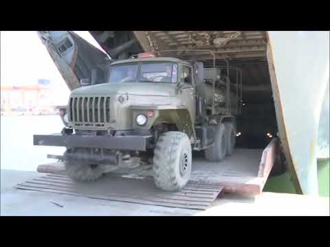 Russian delivered S-400 unloaded in Tartus, Syria