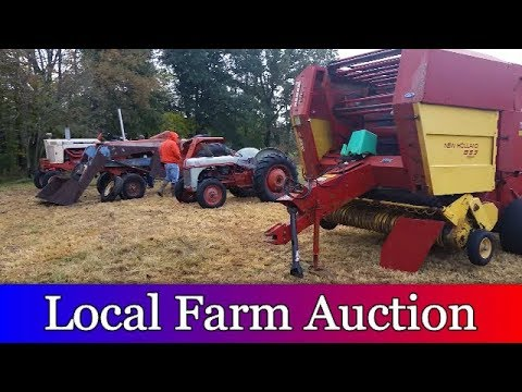 Looking For Used Farm Equipment At A Local Farm Auction