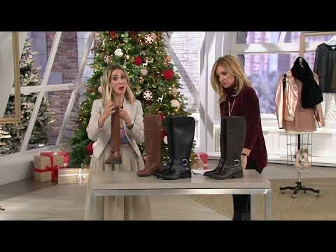 Marc Fisher Leather Choice Of Calf Riding Boots - Gatway On QVC