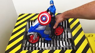 EXPERIMENT Shredding  Captain America Toy