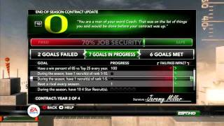 NCAA Football 12 - Dynasty Improvements (Xbox 360, PS3)