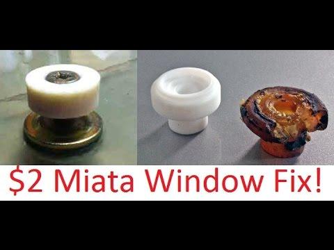 Mazda Miata Cheap Slow Car Window Roller Fix Youtube