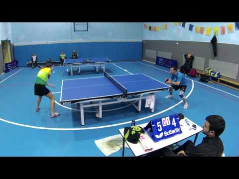 Table tennis game - MARINA KRACHENKO vs ISSAK ABRAMOV