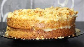 Постный апельсиновый торт. Рецепт за 100 рублей