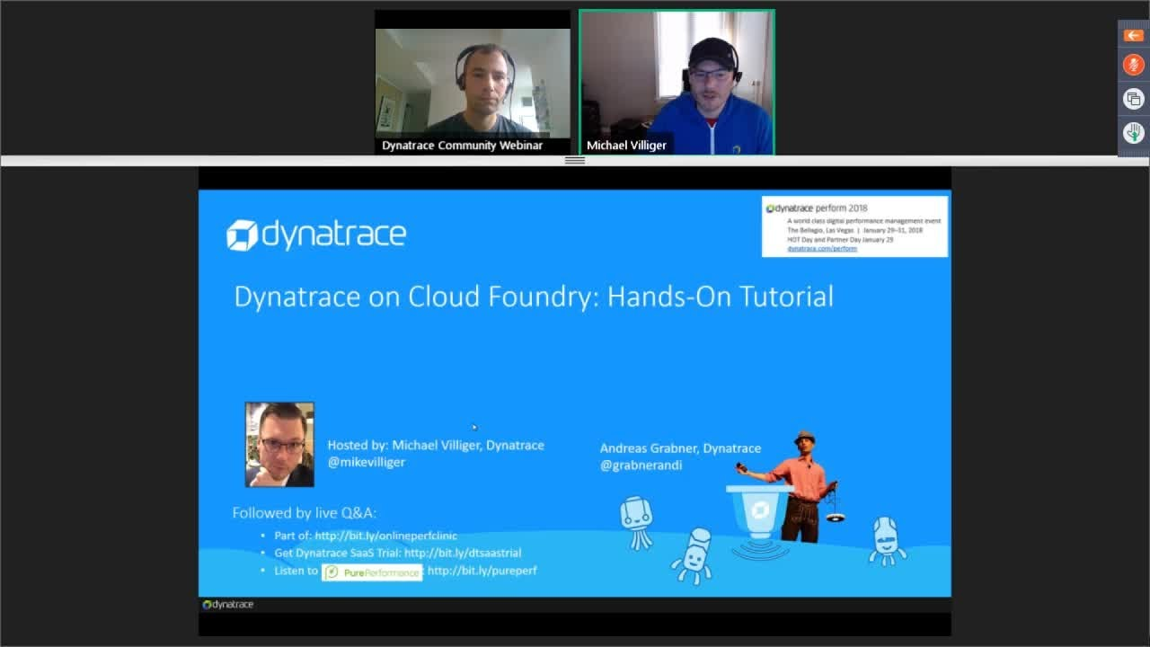 Online Perf Clinic - Dynatrace on Cloud Foundry: Hands-On Tutorial