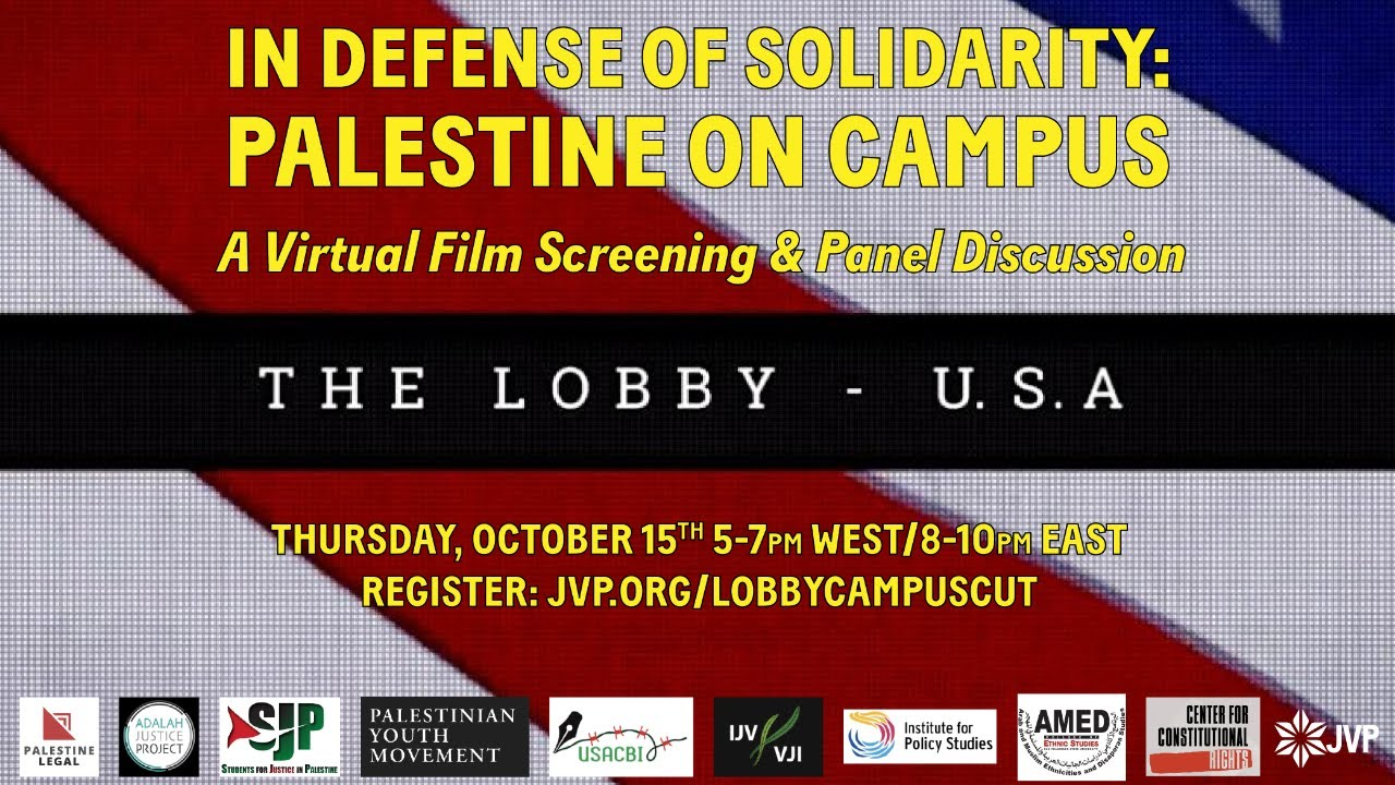 In Defense of Solidarity: Palestine on Campus A virtual film screening & panel discussion