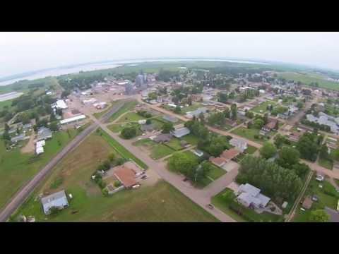 Aerial Tour Napoleon North Dakota