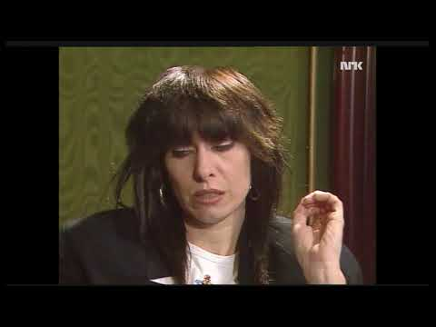 Interview with Chrissie Hynde  on Norwegian television 1990