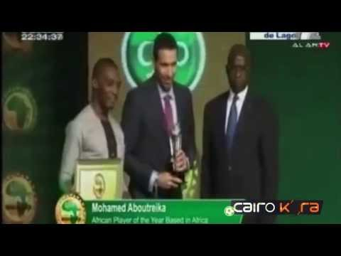 محمد أبو تريكه يفوز بلقب أفضل لاعب في العالم لعام 2013 HD