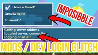 Growtopia - How to Login MODS GLITCH ! (2018)
