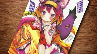 SPEED DRAWING IZUNA ( No Game No Life ) Desenhando Izuna NGNL ( ノーゲーム・ノーライフ )