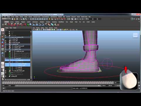 Creating a Character Rig - Part 19: Reverse foot rig