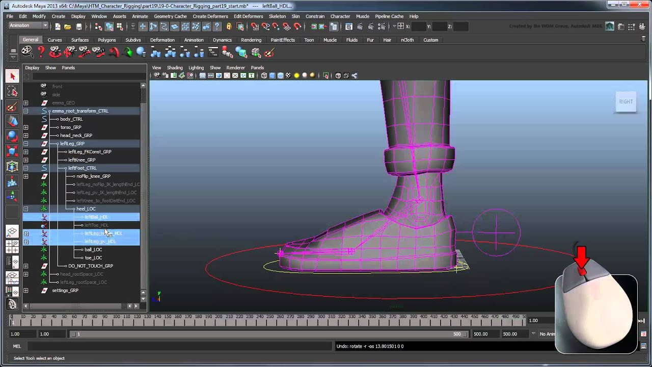 Creating a Character Rig - Part 19: Reverse foot rig (Advanced)