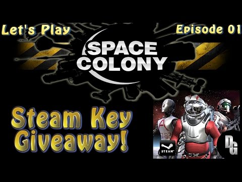 Space Colony Let's Play ► Episode 01 ► Getting Started / Steam Key Giveaway!
