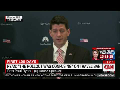 "PAUL RYAN Trump Ban Press Conference HOT MIC ""Waste of my F*cking Time"""