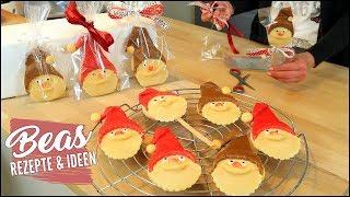 NIKOLAUS Kekse Rezept | Backen Basteln Verschenken | Weihnachtsmann Butterkeks Plätzchen