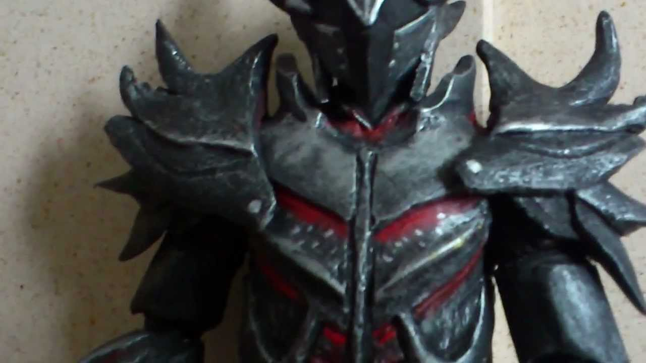 skyrim daedric armor and greatsword custom 12quot figure