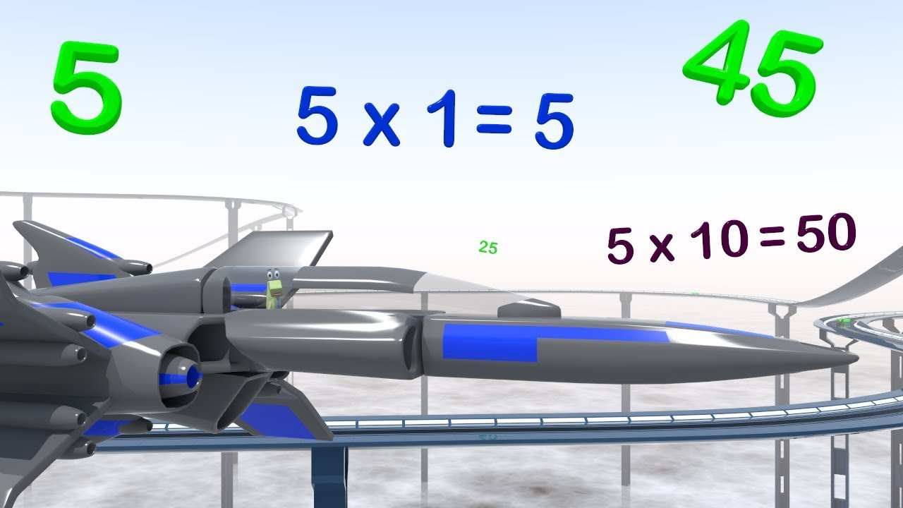 Five Times Table Race - Multiplication Maths Videos for Kids - YouTube