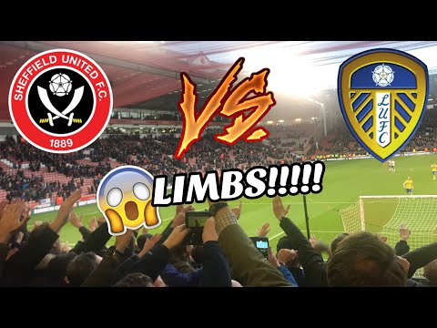SHEFFIELD UNITED 0-1 LEEDS UNITED - ABSOLUTE SCENES - LIMBS😱 (1/12/18)