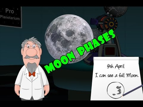 Lunar Cycle   Moon Games   Moon Phases   Science Kids - Learning For Kids