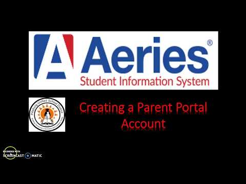 How To Steps for Creating an Aeries Parent Portal