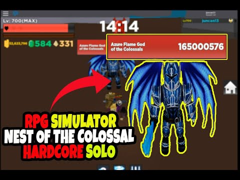 Solo Hardcore Nest Of The Colossal | Roblox RPG Sim