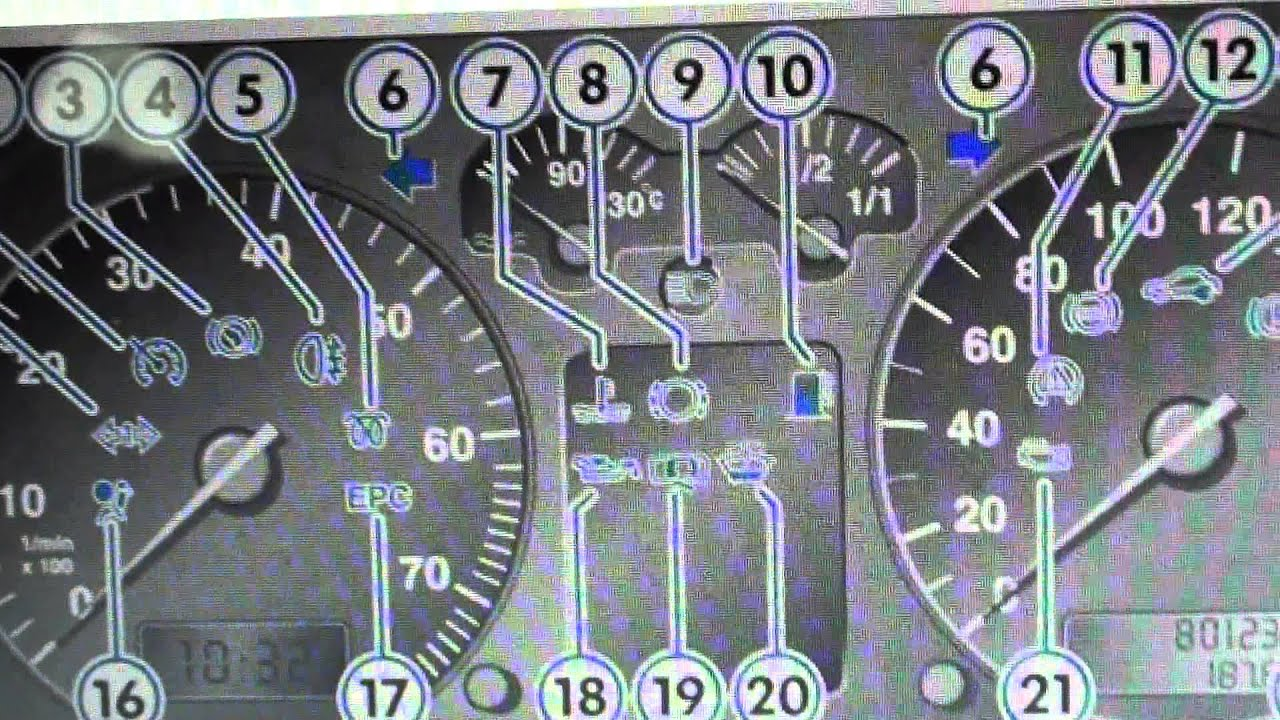 VW Golf Mk4 Dash Warning Lights U0026 Symbols What They Mean Here   YouTube