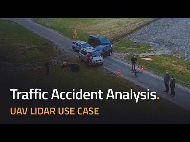 UAV LiDAR para análisis forense de accidentes de tráfico