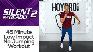 45 Minute Intense Low Impact Full Body No Jumping HIIT Workout (Apartment Friendly)