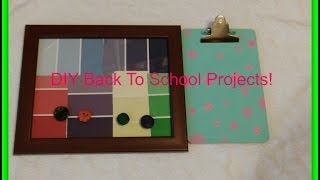 DIY Back To School Projects Thumbnail