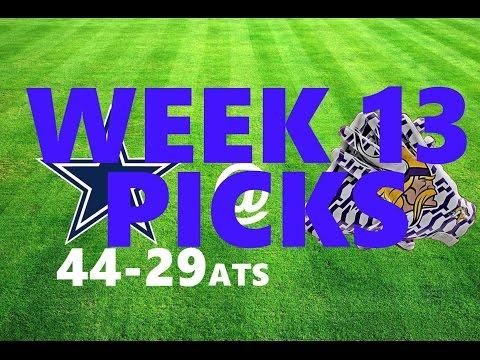 NFL WEEK 13 BETTiNG PiCKS ATS (3-0 iN NFL PiCKS LAST WEEK) 44-29 AGAiNST THE SPREAD 11/28/16