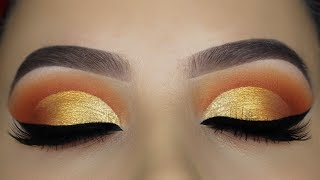 Warm Golden Cut Crease Tutorial