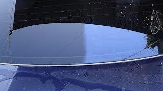 Удаляем синий налет со стекла авто