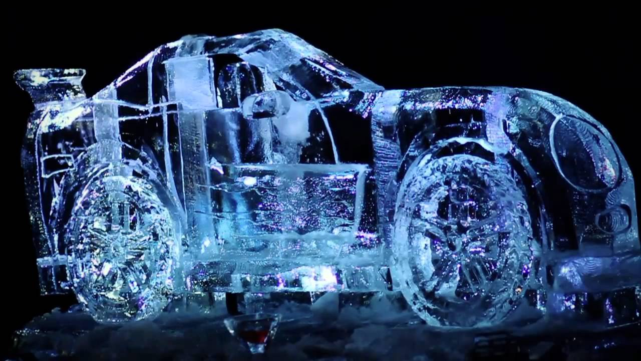 live ice carving show 2 ice bulb youtube