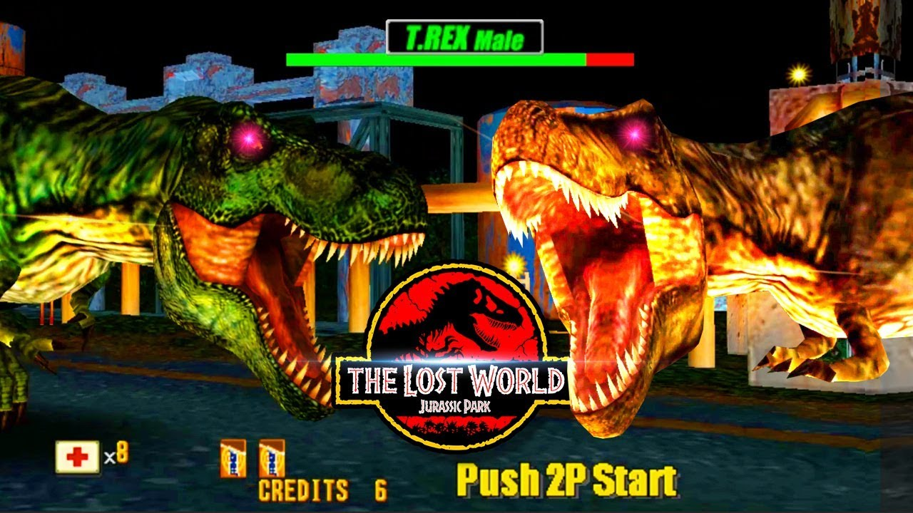 Boss Double Trex Last Stage The Lost World Jurassic Park Arcade Shooter Game Sega 1997 Youtube