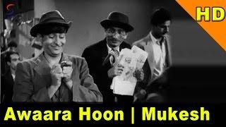 Awaara Hoon   Mukesh   Awara @ Raj Kapoor, Nargis, Prithviraj Kapoor Resimi